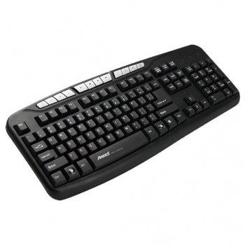 Клавиатура проводная Aneex E-K812 USB Black