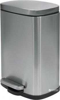 Відро для сміття SPIRELLA Akira 30х21.4 см з педаллю сріблясте (10.19833)