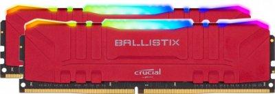 Пам'ять DDR4 RAM 16GB Crucial 3200MHz PC4-25600 (Kit of 2x8GB) Ballistix RGB Red (BL2K8G32C16U4RL)
