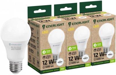 Светодиодная лампа Enerlight A60 12W 4100K E27 3 шт (A60E2712SMDNFRZ)
