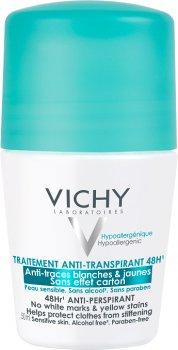 Дезодорант-антиперспирант Vichy 48 часов против белых следов и желтых пятен 50 мл (3337871324599)