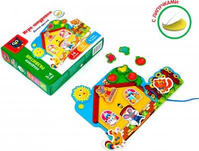 Гра-шнурівка з липучками Vladi Toys Будинок друзів (Рос) (VT5303-01)