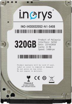 Жорсткий диск i.norys 320GB INO-IHDD0320S2-N1-5408 5400rpm 8MB 2.5 SATA II