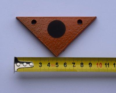 Гонг мішень 100х50 трикутник для дрібнокаліберної Сателіт (603)