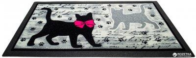 Придверний килимок IzziHome Italyan Format Siyah Kediler 40x68 (2200000541994)