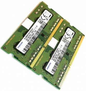 Пара оперативної пам'яті для ноутбука Samsung DDR3L 8Gb (4Gb+4Gb) 1600MHz 12800S CL11 (M471B5173EB0-YK0) Нова!