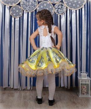Детское нарядное платье I.V.A.moda Жар-птица 30 желтый iva-510