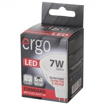 Світлодіодна лампа ERGO Standard MR16 GU5.3 7W 220V 4100K