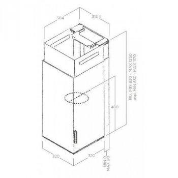 Купольная настенная кухонная вытяжка Elica HAIKU IX/A/32 Classic PRO (1-IX/A/32)