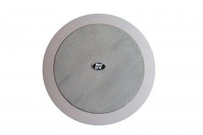 """Потолочный динамик с трансформатором DV audio 6""""+1,5"""" белый (C-6.2)"""