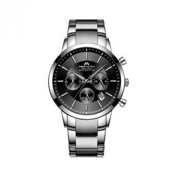 Годинники чоловічі Megalith 8043M Silver-Black