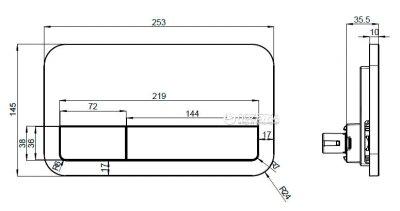Панель смыва VILLEROY&BOCH 92249069 ViConnect E200