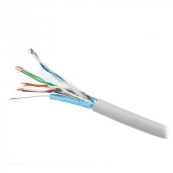Кабель сетевой Kingda UTP 305м, cat 5e, CCA, 4 pairs, 24AWG, PVC, grey (KDUT8001-CCA)