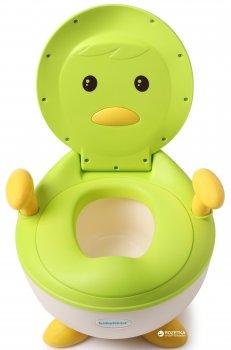 Детский горшок Babyhood Пингвин с полиуретановым кольцом Зеленый (BH-113PG)
