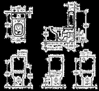 Бачок для унитаза VILLEROY & BOCH JOYCE 57121101 белый альпин (59836)