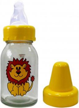 Комплект для кормления Киевгума Классик Лев 125 мл с соской (стекло, желтая бутылка) (3924100000) (4823060810688)