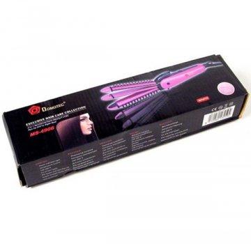 Плойка утюжок щипцы для волос 3-в-1 Domotec MS-4906 Розовый/черный (2958)