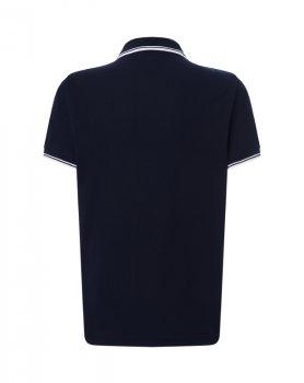 Чоловіча сорочка-поло JHK POLO REGULAR CONTRAST, темно-синя
