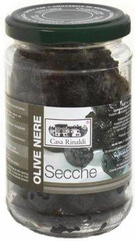 Оливки черные сушеные с косточкой Casa Rinaldi без масла 170 г (8006165388887)