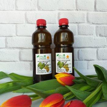 Массажное масло виноградных косточек Delika для тела нерафинированное 1 л