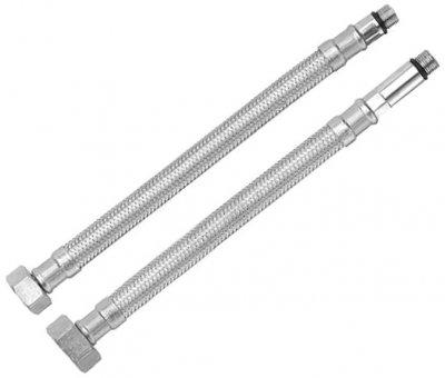"""Комплект шлангів для змішувача RUBINETA M10x1/2"""" 40 см (довга/коротка голка) 617040"""