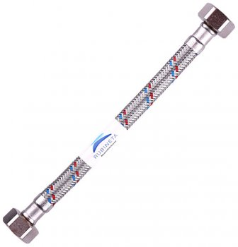 """Шланг водопровідний RUBINETA 1/2""""x1/2"""" 40 см В-В гнучкий 610040"""