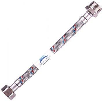 """Шланг водопровідний RUBINETA 1/2""""x1/2"""" 80 см В-З гнучкий 611080"""