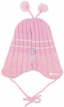Демисезонная шапка с завязками Lenne Brate 18370/176 40 см Розовая (4741578205416)