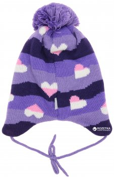 Зимняя шапка с завязками Lenne Nelle 18378A/363 46 см Темно-фиолетовая (4741578207038)