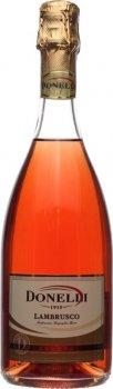 Ігристе вино Donelli Lambrusco Emilia Amabile напівсухе рожеве 7.5% 0.75 л (8008920001390)