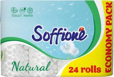 Папір туалетний Soffione Natural 3 шари 24 рулони (4820003834282)