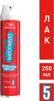 Лак для волос Wella Shockwaves Легкость расчесывания 250 мл (3614226128119)
