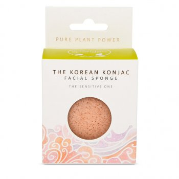 Спонж для особи Konjac sponge з рожевої глини і екстрактом ромашки Стихія повітря