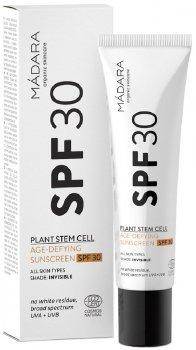 Антивозрастной солнцезащитный крем Madara с растительными стволовыми клетками SPF 30 40 мл (4751009828824)
