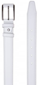Мужской ремень кожаный Sergio Torri 8-0069 115-120 см Белый (2000000015002)