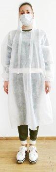 Одноразовый халат Come-for с капюшоном 2 шт (2567930020020)