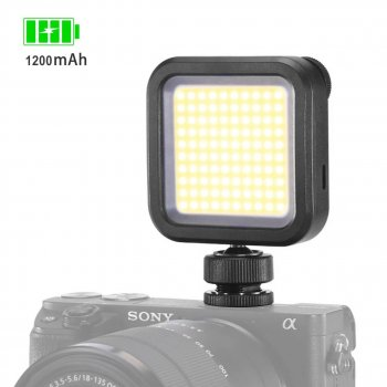 Накамерный свет Ulanzi VL100 LED с аккумулятором 1200 мАч (4064-11812)