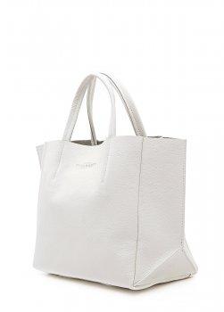 Кожаная сумка Soho POOLPARTY 47х32х15 см Белый 000032108