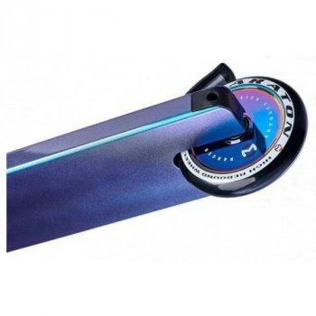 Трюковий самокат Maraton Ranger трюкової чорний синій для фрістайлу HIC з посиленою рамою (Неохром) + Комплект захисту в подарунок 1303