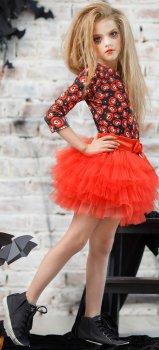Костюм (блузка + юбка) Zironka 64-8035-2 98 см Оранжевый (ROZ6205040656)