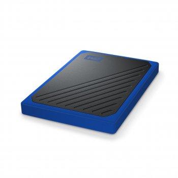 """Накопичувач зовнішній SSD"""" USB 1TB WD My Passport Go Blue (WDBMCG0010BBT-WESN)"""