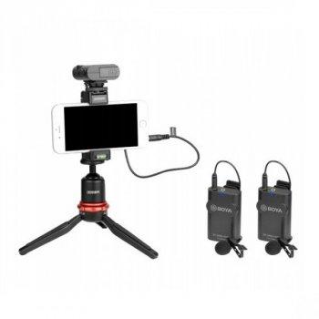 Бездротовий петличний мікрофон система Boya BY-WM4 Mark II Pro K2 для Smartphone/DSLR/PC до 60