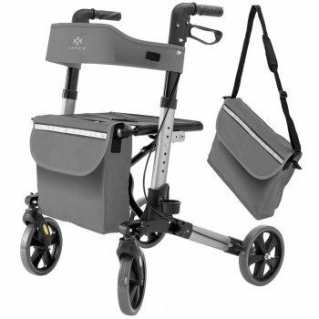 Ролатор Kesser Серый, ходунки на колесах для взрослых и инвалидов алюминиевый