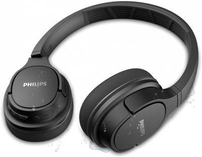 Навушники Philips ActionFit TASH402 Over-Ear IPX4 Wireless Mic Black (TASH402BK/00)