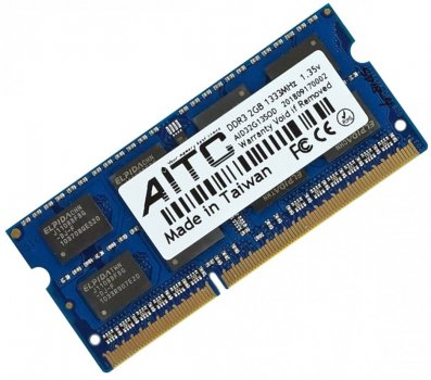 Оперативна пам'ять для ноутбука DDR3L-1333 2Gb SODIMM PC3L-10600 1.35 V AITC AID32G13SOD-L 2048MB (770008502)
