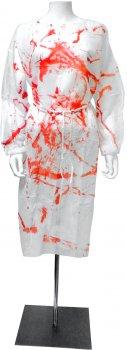 Халат Seta Decor 15-257RD медицинский кровавый Бело-красный (2000042283018)