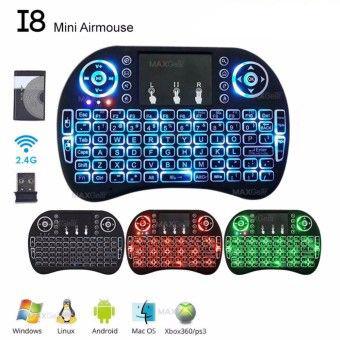 Бездротова міні-клавіатура TOTO i8 з підсвічуванням Mini Keyboard LED чорний