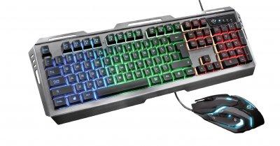 Комплект геймерська клавіатура і мишка Trust GXT 845 Tural Gaming Combo STEEL
