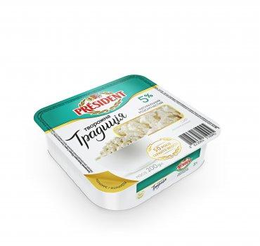 Сир кисломолочний ПРЕЗИДЕНТ 5% Творожна Традиція 200г