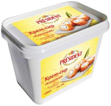 Крем-сир ПРЕЗИДЕНТ 24,5% класичний 1кг